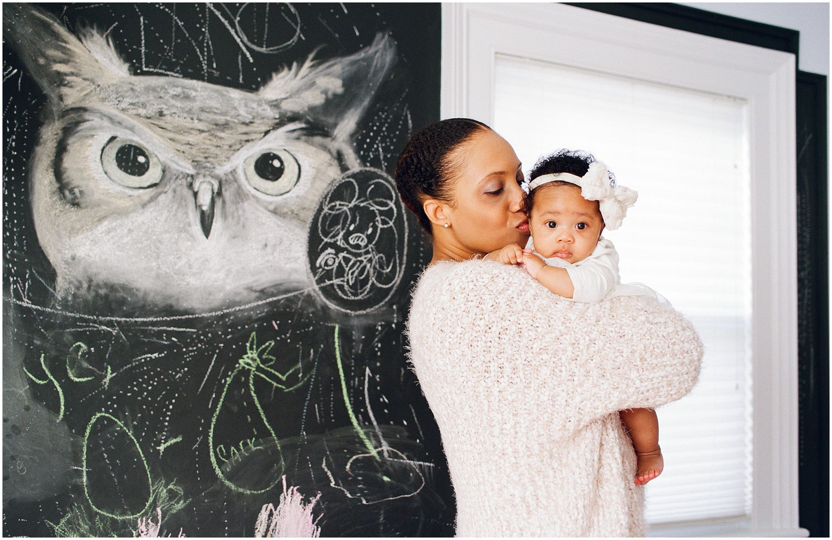 great interior decor during our family photo session at home with baby girl in New York