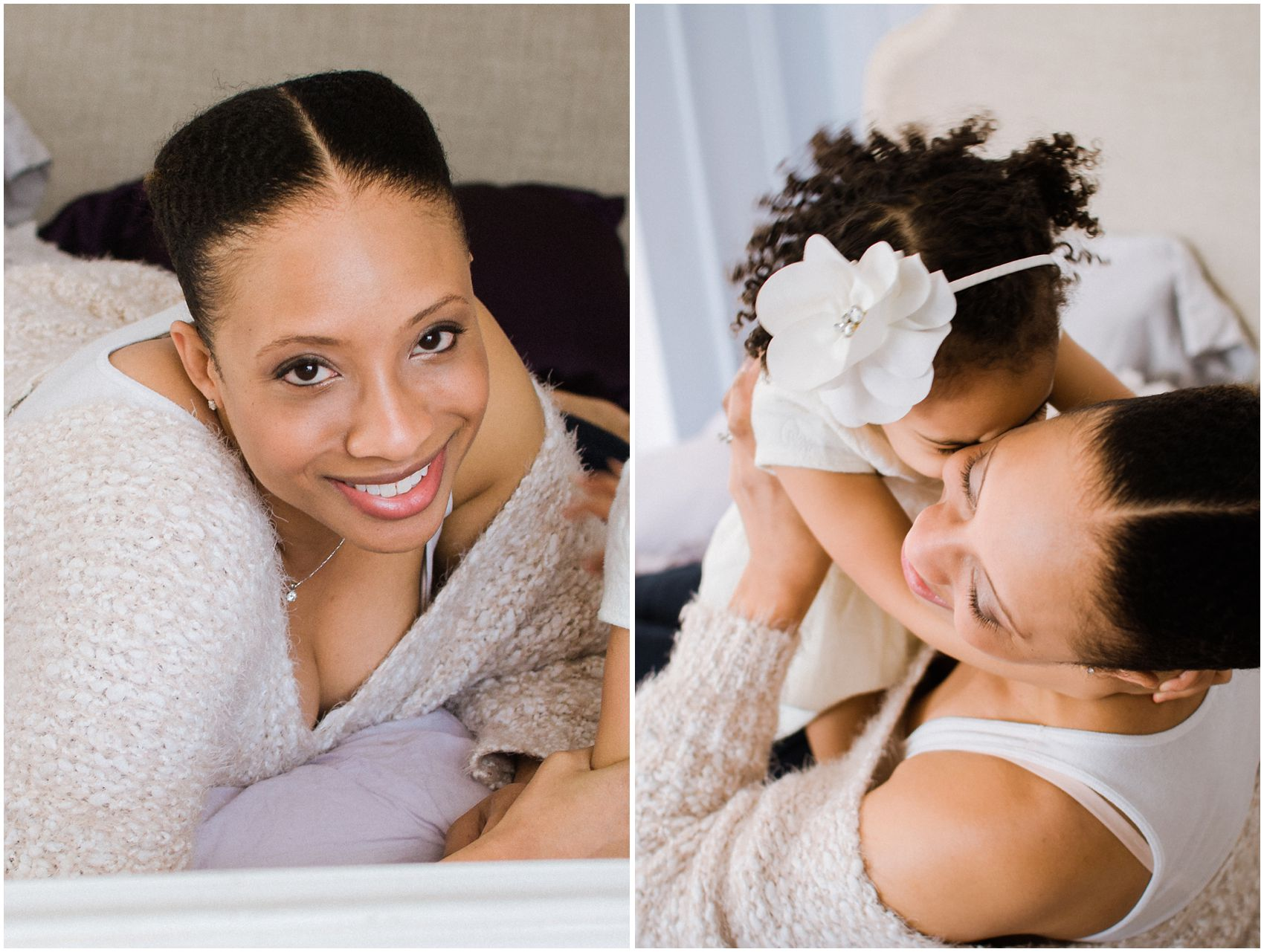 mother and daughter lifestyle portaits at home in New York