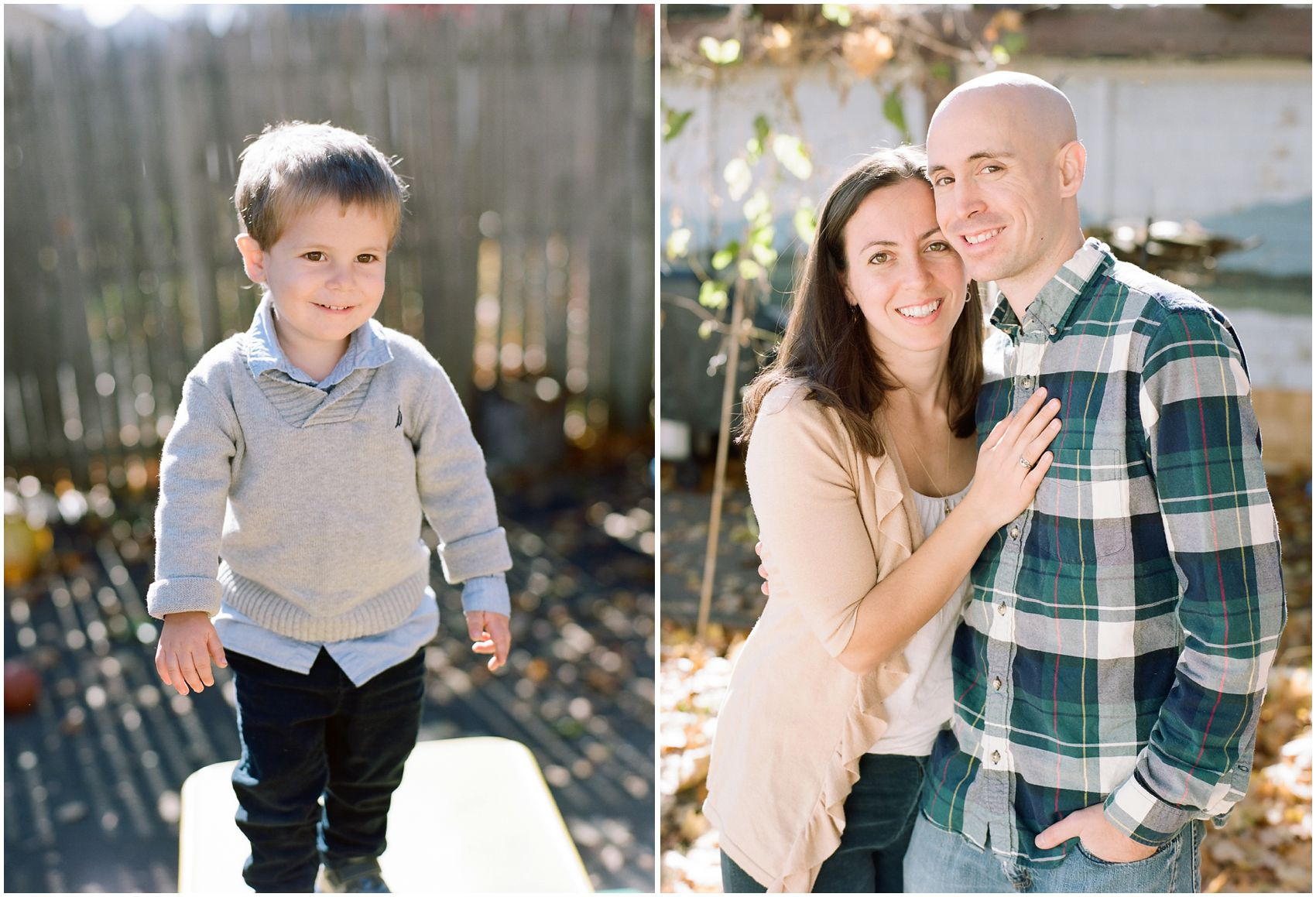beautiful family photos of parents and son wearing fall clothing in Rockland County, NY