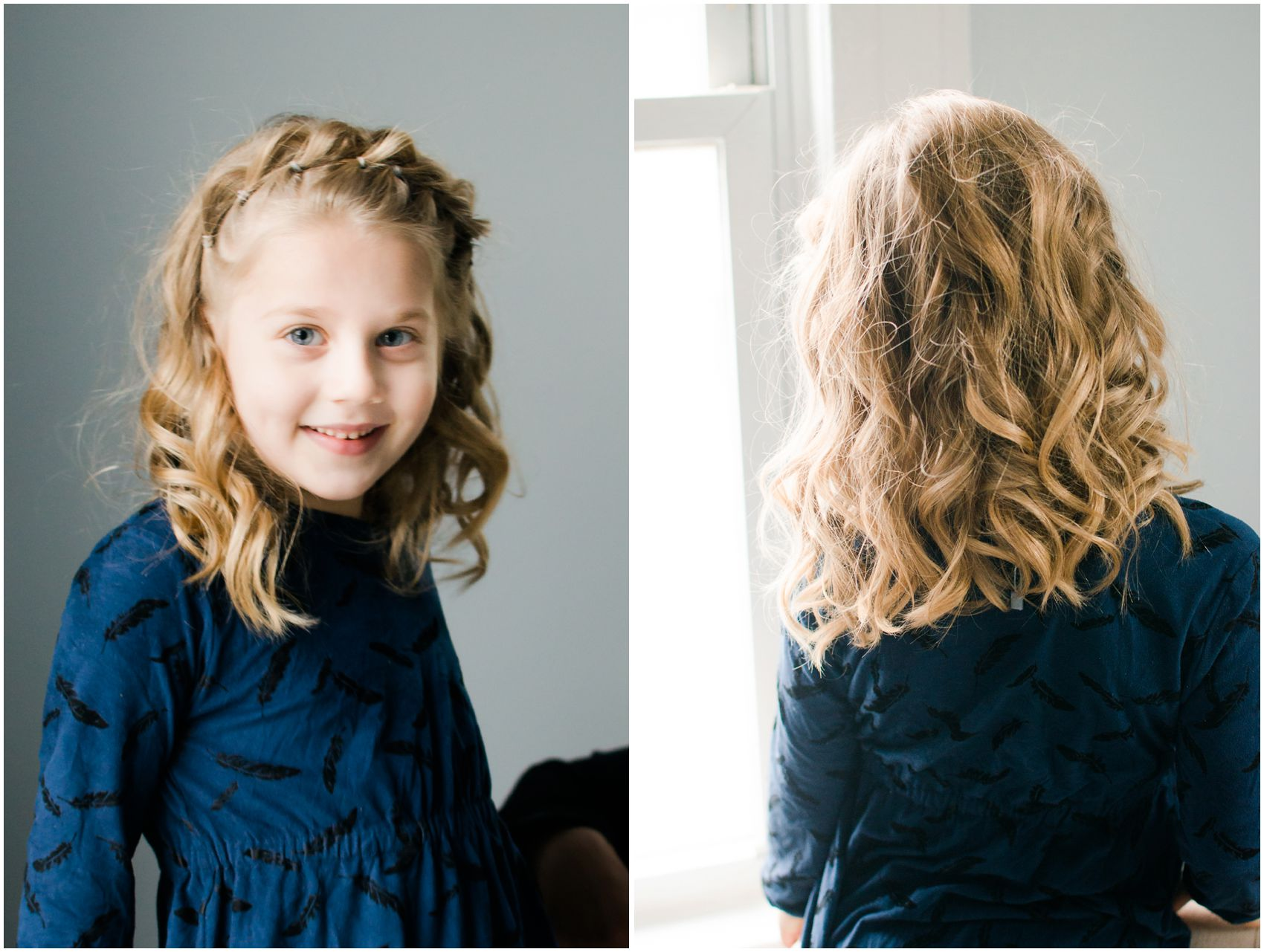 curly blond  hair for a little girl