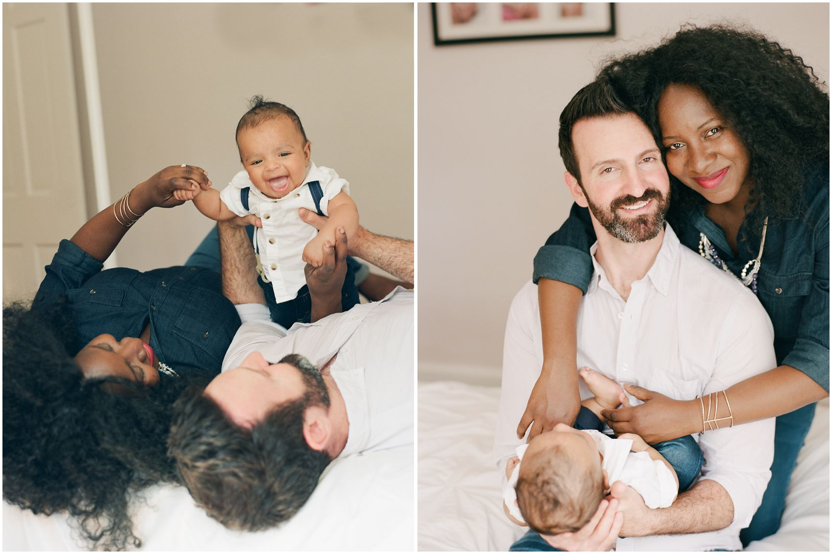 newborn portraits with parents and newborn baby boy in New York