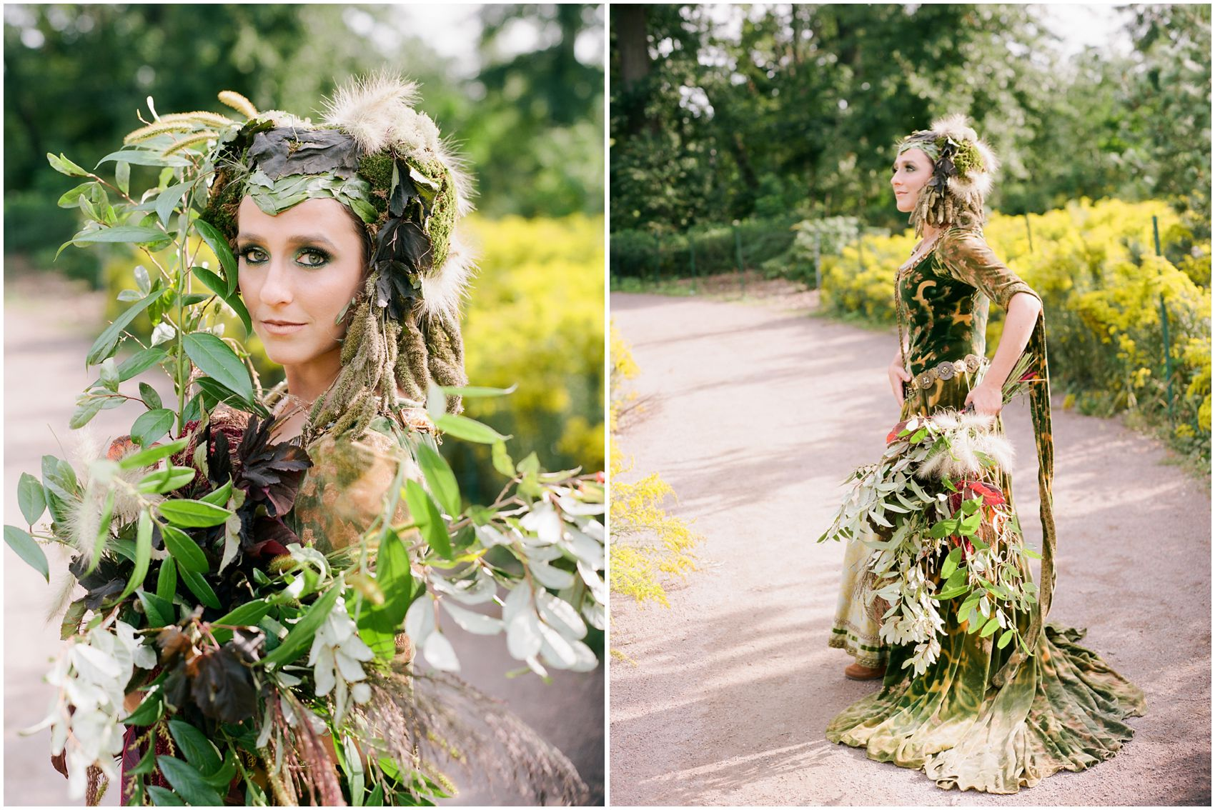 dream shoot of nature goddess in prospect park