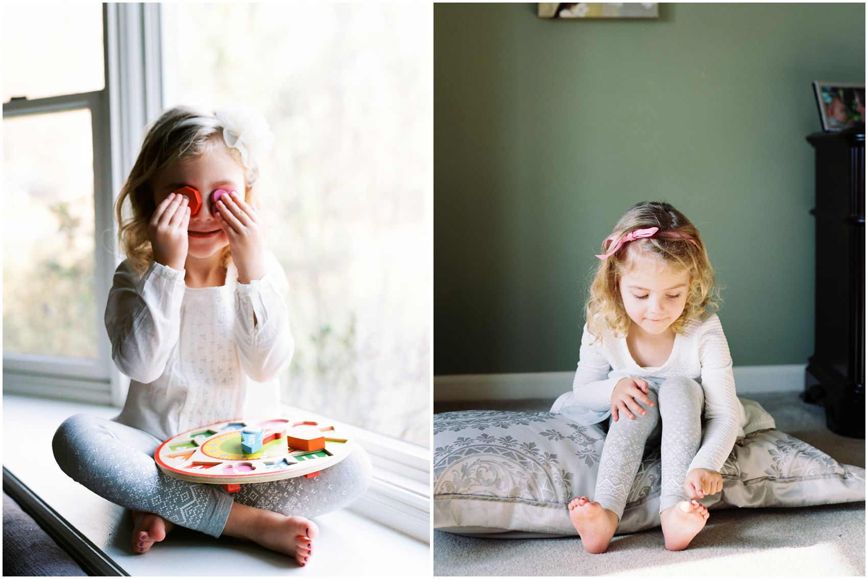child photography of a toddler girl touching her toes