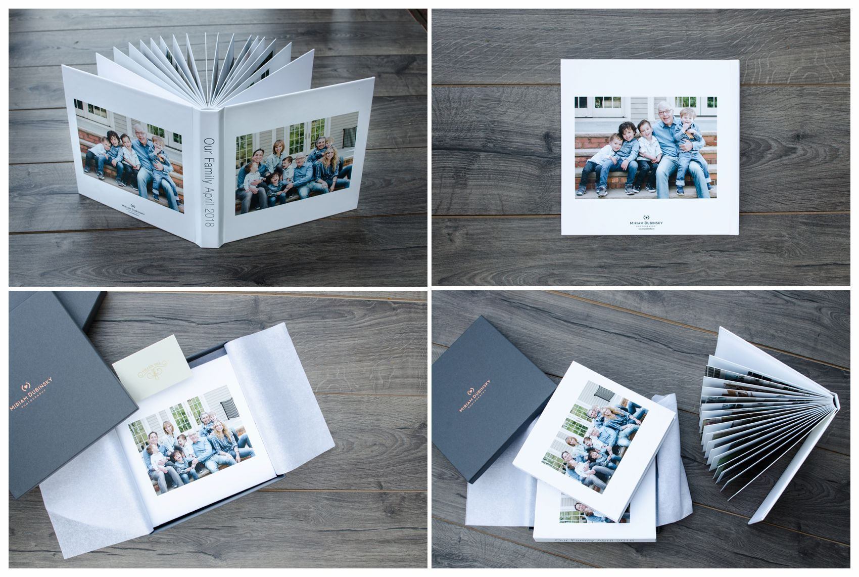 matching heirloom family albums for kids parents and grandparents of their extended family session in NYC